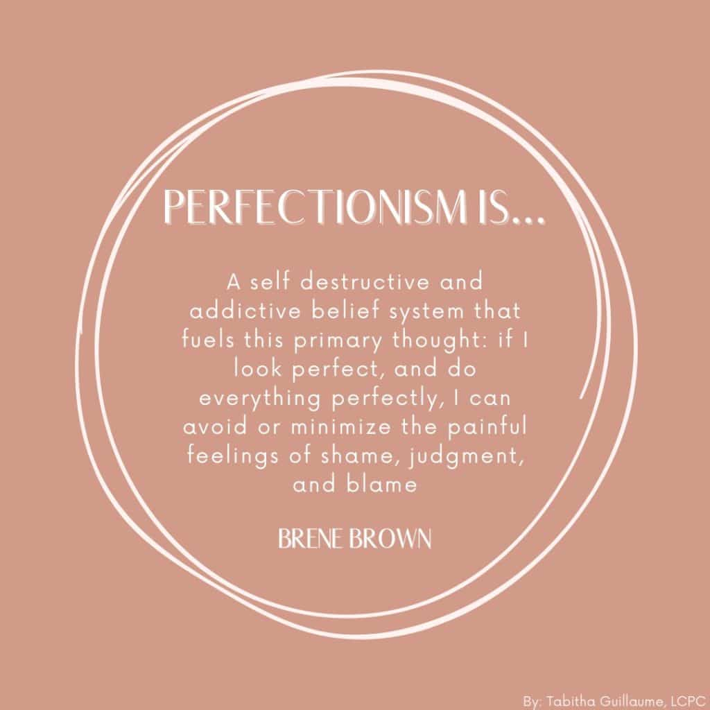 inforgraphic on perfectionism